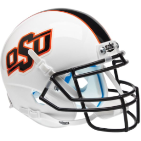 Oklahoma State Cowboys White w/Stripe Schutt XP Authentic Mini Football Helmet