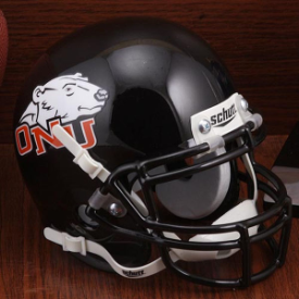Ohio Northern Polar Bears Schutt Mini Football Helmet Desk Caddy
