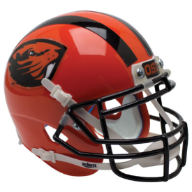 Oregon State Beavers Orange Beaver Schutt XP Authentic Mini Football Helmet