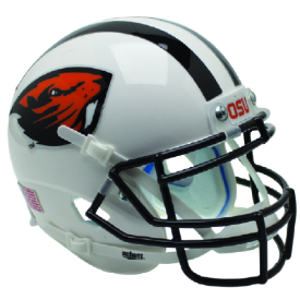 Oregon State Beavers White Beaver Schutt XP Authentic Mini Football Helmet