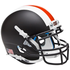 Oregon State Beavers Black w/Stripes Schutt XP Authentic Mini Helmet