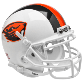 Oregon State Beavers White Schutt XP Authentic Mini Football Helmet