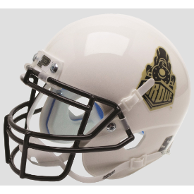 Purdue Boilermakers White Schutt XP Authentic Mini Football Helmet