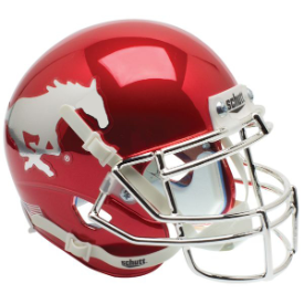 SMU Mustangs Chrome Schutt XP Authentic Mini Football Helmet