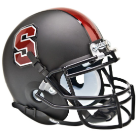 Stanford Cardinal Matte Black Schutt XP Authentic Mini Football Helmet