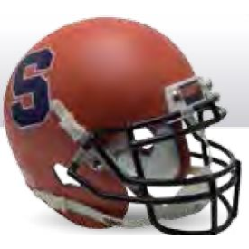 Syracuse Orangemen Matte Orange S Outline Schutt XP Authentic Mini Football Helmet