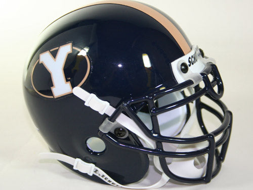 Brigham Young Cougars 1999-04 Throwback Schutt Authentic Mini Football Helmet