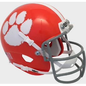 Clemson Tigers 1970-74 Throwback Schutt Authentic Mini Football Helmet