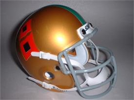 Miami Hurricanes 1967 Throwback Schutt Authentic Mini Football Helmet