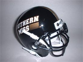 Southern Miss Golden Eagles 1990-02 Throwback Schutt Authentic Mini Football Helmet