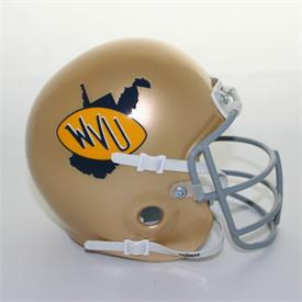 West Virginia Mountaineers 1973-78 Throwback Schutt Authentic Mini Football Helmet