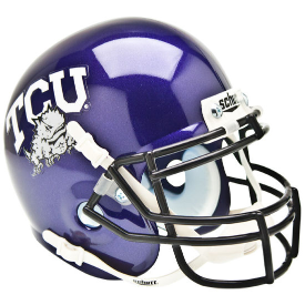 TCU Horned Frogs Schutt XP Authentic Mini Football Helmet