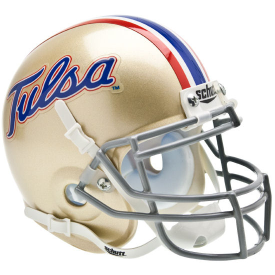 Tulsa Golden Hurricane Schutt XP Authentic Mini Football Helmet