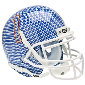 Tulsa Golden Hurricane Carbon Fiber Schutt XP Authentic Mini Football Helmet