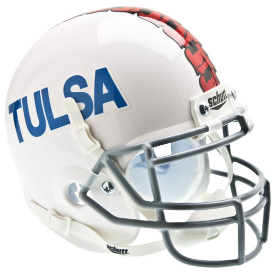Tulsa Golden Hurricane White Schutt XP Authentic Mini Football Helmet