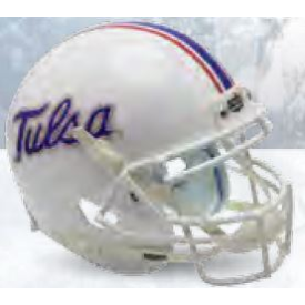 Tulsa Golden Hurricane White Schutt Mini Football Helmet Desk Caddy