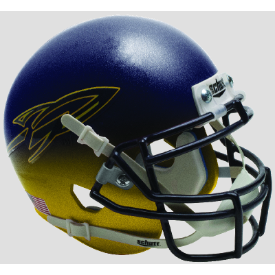 Toledo Rockets Navy/Yellow Schutt XP Authentic Mini Football Helmet