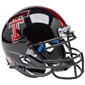 Texas Tech Red Raiders Chrome Logo Schutt XP Authentic Mini Football Helmet