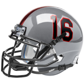Texas Tech Red Raiders Gray 16 Schutt XP Authentic Mini Football Helmet