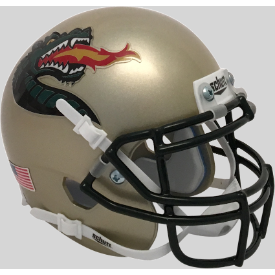Alabama-Birmingham (UAB) Blazers Gold Dragon Schutt XP Authentic Mini Football Helmet