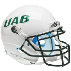 Alabama-Birmingham (UAB) Blazers White Schutt XP Authentic Mini Football Helmet