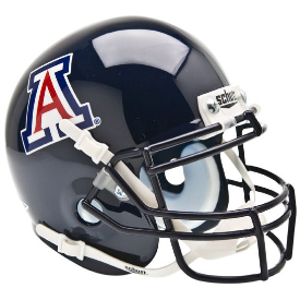 Arizona Wildcats Blue Schutt XP Authentic Mini Football Helmet
