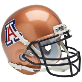 Arizona Wildcats Copper Schutt XP Authentic Mini Football Helmet