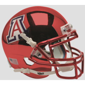 Arizona Wildcats Chrome Schutt XP Authentic Mini Football Helmet