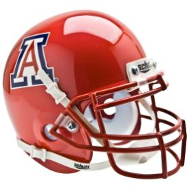 Arizona Wildcats Scarlet Schutt XP Authentic Mini Football Helmet