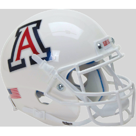 Arizona Wildcats White w/chrome decals Schutt XP Authentic Mini Football Helmet