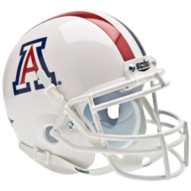 Arizona Wildcats White w/Stripe Schutt XP Authentic Mini Football Helmet