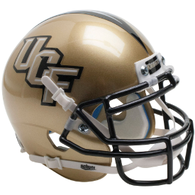 Central Florida Golden Knights Gold Schutt XP Authentic Mini Football Helmet