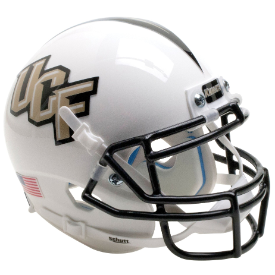 Central Florida Golden Knights White Schutt XP Authentic Mini Football Helmet