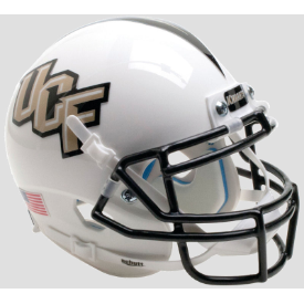 Central Florida Golden Knights White Schutt Mini Football Helmet Desk Caddy