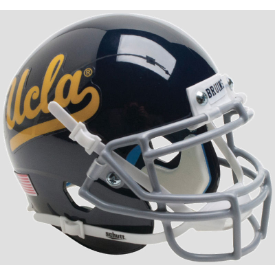 UCLA Bruins Black Schutt Mini Football Helmet Desk Caddy