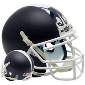 Connecticut Huskies Matte Navy Schutt XP Authentic Mini Football Helmet