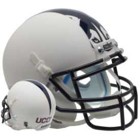 Connecticut Huskies Matte White Schutt XP Authentic Mini Football Helmet