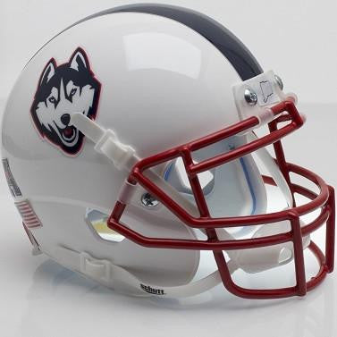 Connecticut Huskies White Husky With Stripe Schutt XP Authentic Mini Football Helmet
