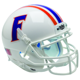 Florida Gators White Schutt XP Authentic Mini Football Helmet