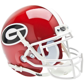 Georgia Bulldogs Schutt XP Authentic Mini Football Helmet