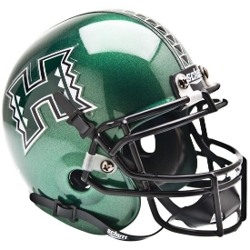 Hawaii Warriors Schutt XP Authentic Mini Football Helmet