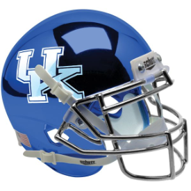 Kentucky Wildcats Chrome Blue Schutt XP Authentic Mini Football Helmet