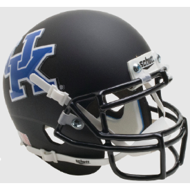 Kentucky Wildcats Matte Black Schutt XP Authentic Mini Football Helmet