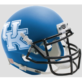 Kentucky Wildcats Matte Royal Blue Schutt XP Authentic Mini Football Helmet