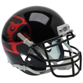 Louisville Cardinals Black Schutt XP Authentic Mini Football Helmet