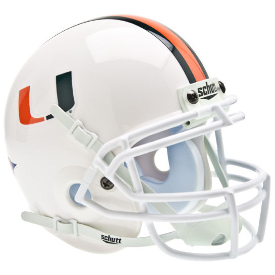 Miami Hurricanes Schutt XP Authentic Mini Football Helmet