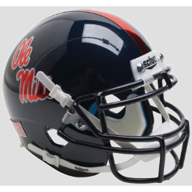 Mississippi (Ole Miss) Rebels Chrome Decal Schutt XP Authentic Mini Football Helmet