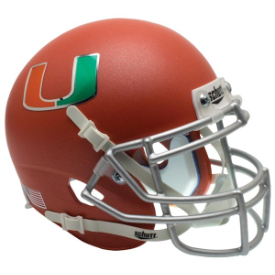 Miami Hurricanes Orange Schutt XP Authentic Mini Football Helmet