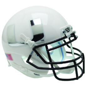 Miami Hurricanes White Chrome Decal Schutt XP Authentic Full Size Football Helmet