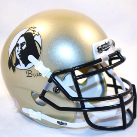 UNC Pembroke Braves Schutt Mini Football Helmet Desk Caddy
